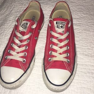 Red low-top Converse